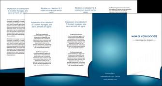 personnaliser modele de depliant 4 volets  8 pages  bleu fond  bleu couleurs froides MIF64283