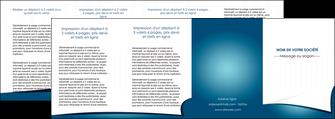 modele depliant 4 volets  8 pages  bleu fond  bleu couleurs froides MIF64285