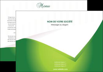 faire set de table vert fond vert abstrait MIF64341