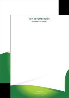 creer modele en ligne affiche vert fond vert abstrait MIF64345