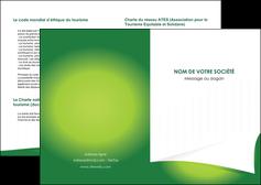 exemple depliant 2 volets  4 pages  vert fond vert abstrait MIF64347