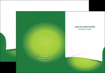 personnaliser maquette pochette a rabat vert fond vert abstrait MIF64355