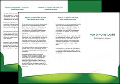 modele en ligne depliant 3 volets  6 pages  vert fond vert abstrait MIF64367