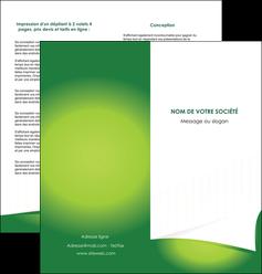 faire modele a imprimer depliant 2 volets  4 pages  vert fond vert abstrait MIF64369