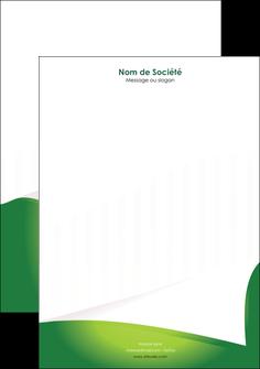 imprimerie tete de lettre vert fond vert abstrait MIF64373