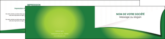 modele depliant 2 volets  4 pages  vert fond vert abstrait MIF64377
