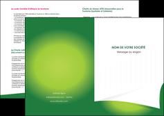 realiser depliant 2 volets  4 pages  vert fond vert abstrait MIF64381