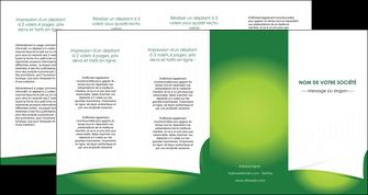 imprimerie depliant 4 volets  8 pages  vert fond vert abstrait MIF64387