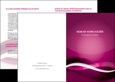 cree depliant 2 volets  4 pages  violet violet fonce couleur MIF64521