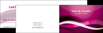 cree carte de visite violet violet fonce couleur MIF64523