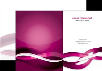 impression pochette a rabat violet violet fonce couleur MIF64527
