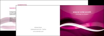 creation graphique en ligne depliant 2 volets  4 pages  violet violet fonce couleur MIF64531