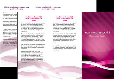 personnaliser modele de depliant 3 volets  6 pages  violet violet fonce couleur MLGI64541