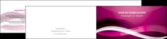 faire modele a imprimer depliant 2 volets  4 pages  violet violet fonce couleur MIF64551