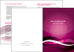 exemple depliant 2 volets  4 pages  violet violet fonce couleur MIF64555