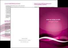 exemple depliant 2 volets  4 pages  violet violet fonce couleur MLIG64555
