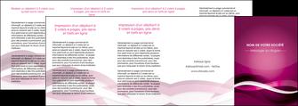 modele depliant 4 volets  8 pages  violet violet fonce couleur MIF64563