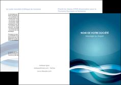 creation graphique en ligne depliant 2 volets  4 pages  web design bleu fond bleu couleurs froides MIS64687