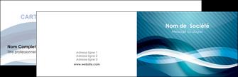personnaliser maquette carte de visite web design bleu fond bleu couleurs froides MIS64689