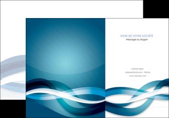 creer modele en ligne pochette a rabat web design bleu fond bleu couleurs froides MIS64695