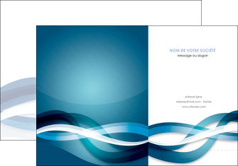 creer modele en ligne pochette a rabat web design bleu fond bleu couleurs froides MLGI64695