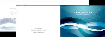 maquette en ligne a personnaliser depliant 2 volets  4 pages  web design bleu fond bleu couleurs froides MLGI64697