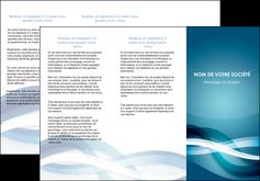 realiser depliant 3 volets  6 pages  web design bleu fond bleu couleurs froides MLGI64707