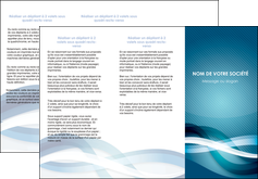 realiser depliant 3 volets  6 pages  web design bleu fond bleu couleurs froides MLIG64707