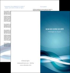 modele depliant 2 volets  4 pages  web design bleu fond bleu couleurs froides MIS64709