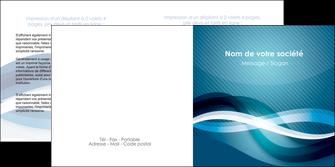 modele depliant 2 volets  4 pages  web design bleu fond bleu couleurs froides MIS64711