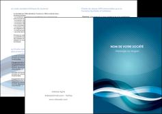 faire depliant 2 volets  4 pages  web design bleu fond bleu couleurs froides MIS64721