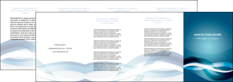 impression depliant 4 volets  8 pages  web design bleu fond bleu couleurs froides MIS64723