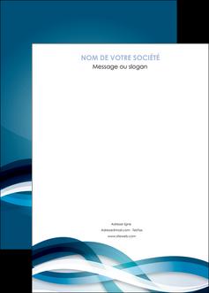 cree affiche web design bleu fond bleu couleurs froides MLIG64725