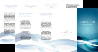 faire depliant 4 volets  8 pages  web design bleu fond bleu couleurs froides MLGI64727