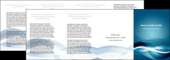 modele depliant 4 volets  8 pages  web design bleu fond bleu couleurs froides MLGI64729