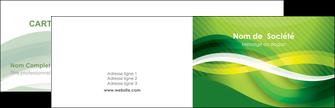 faire modele a imprimer carte de visite vert verte fond vert MLGI64741