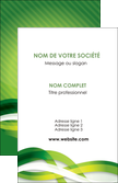 impression carte de visite vert verte fond vert MLIP64743