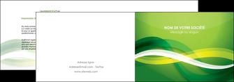 realiser depliant 2 volets  4 pages  vert verte fond vert MLGI64749