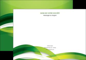 personnaliser maquette affiche vert verte fond vert MLGI64755