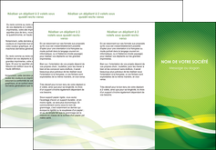 maquette en ligne a personnaliser depliant 3 volets  6 pages  vert verte fond vert MLGI64759