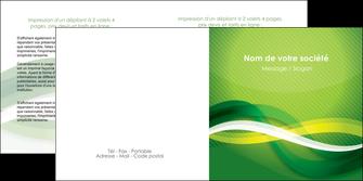exemple depliant 2 volets  4 pages  vert verte fond vert MLGI64763