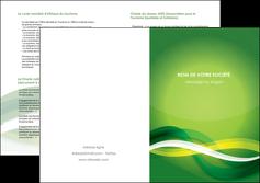 cree depliant 2 volets  4 pages  vert verte fond vert MLGI64773