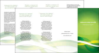 faire modele a imprimer depliant 4 volets  8 pages  vert verte fond vert MLGI64779