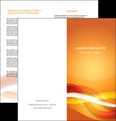 imprimer depliant 2 volets  4 pages  orange colore couleur MLGI64831