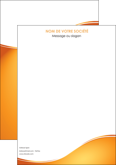 imprimerie affiche orange fond orange fluide MLGI65431