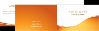 faire modele a imprimer carte de visite orange fond orange fluide MLGI65437
