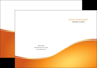 personnaliser modele de pochette a rabat orange fond orange fluide MLGI65441