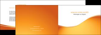 faire modele a imprimer depliant 2 volets  4 pages  orange fond orange fluide MLGI65445