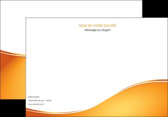personnaliser maquette affiche orange fond orange fluide MLGI65451