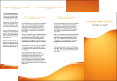 cree depliant 3 volets  6 pages  orange fond orange fluide MLGI65455